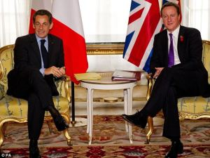 French and British Leaders at conference