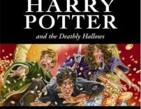 Harry Potter and the Deathly Hallows book cover.