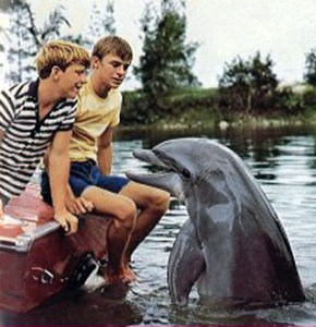 """A scene from the tv-show """"Flipper"""", 1963"""