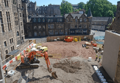 What lies under the proposed Virgin Hotel Edinburgh ?