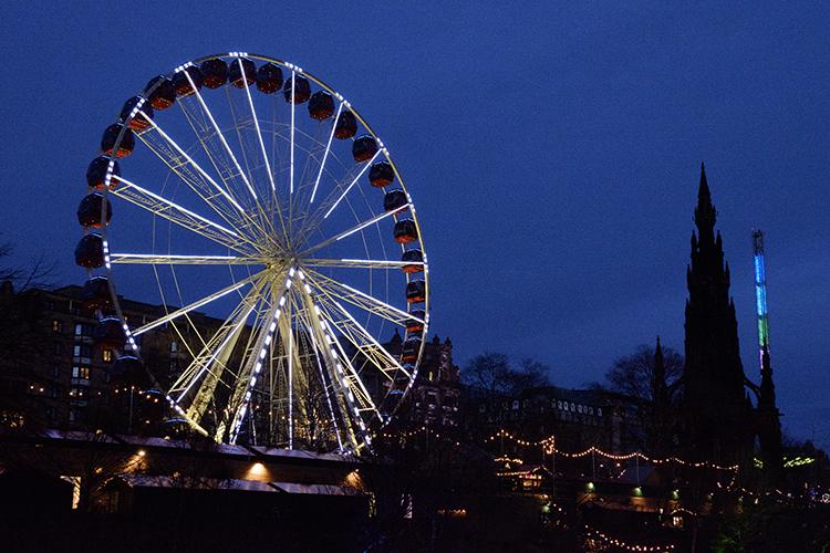 Edinburgh Christmas lights Princes Street