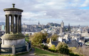 panorama from calton hill edinburgh