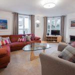 The Malt Kiln Apartment Edinburgh living room facing out to Calton Road Edinburgh. Formerly McDonald Residence.