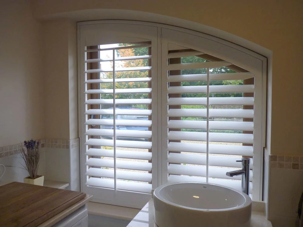 Custom fit curved shutters Edinburgh Shutters