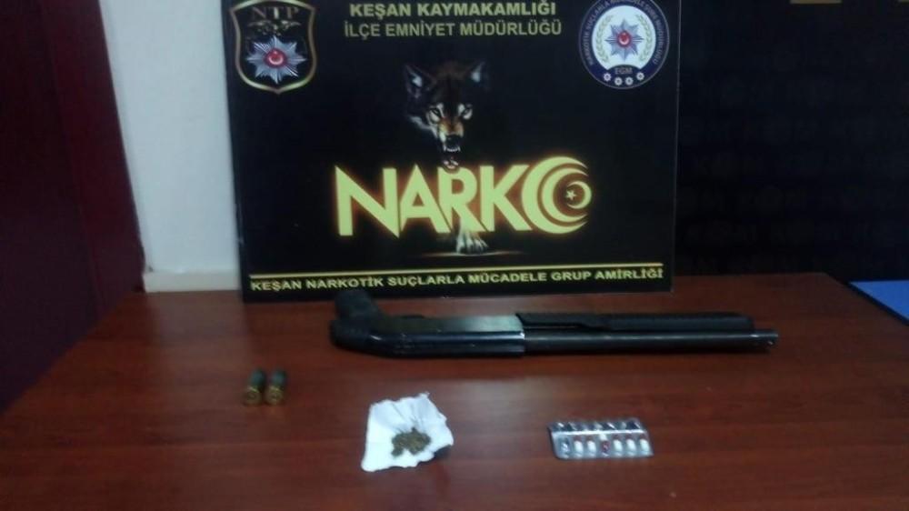 Keşan'da uyuşturucu operasyonu: 5 gözaltı