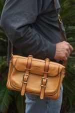 Shoulder strap makes taking with you easy.