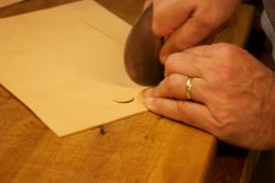 Cutting the opening for the screen