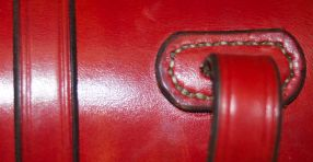 Detail of back where it attaches to the saddle.