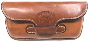 Front of finished glasses case for belt