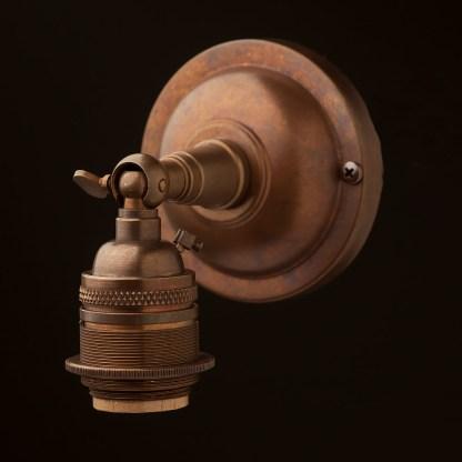 Brass Knuckle Wall mount E26 socket