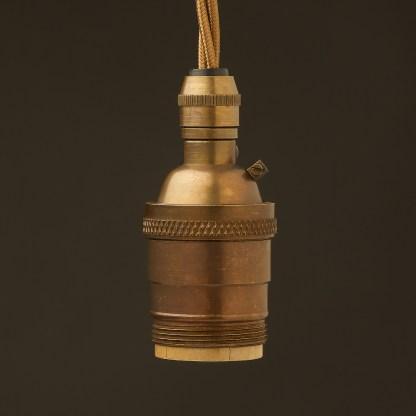 Antique Brass E26 120V Cordgrip Pendant UNO thread