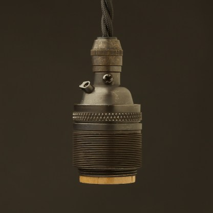Bronze E26 120V Cordgrip Pendant socket Barrel