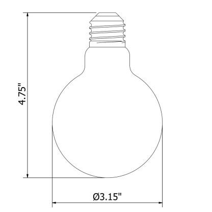 Vintage Edison Round Spiral tungsten filament bulb