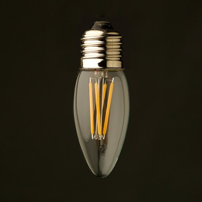3 Watt Dimmable Filament LED E26 Candle bulb