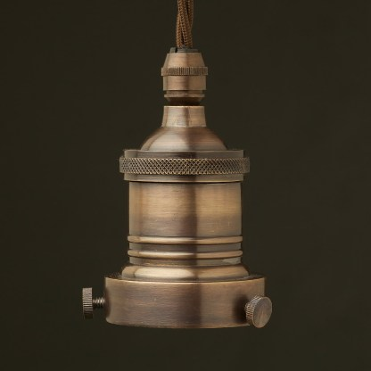 Antiqued Bronze 2.25 inch Cast Gallery and Socket