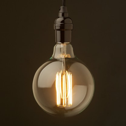 Edison style light bulb and E26 bakelite pendant