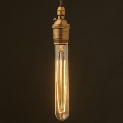 Edison style light bulb and E26 brass pendant
