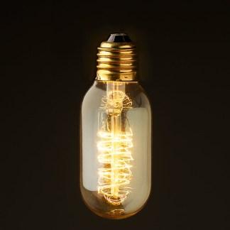 Vintage Edison Spiral tube filament bulb E26