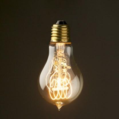 Vintage Edison round tungsten filament bulb 110V E26
