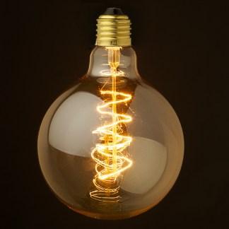 Vintage Edison Spherical Spiral Filament Bulb G125