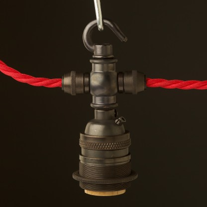 Bronze E26 Festoon Socket with hook