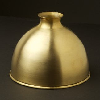 Solid brushed brass dome light shade