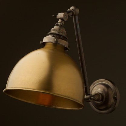 Bronze Adjustable arm wall sconce shade