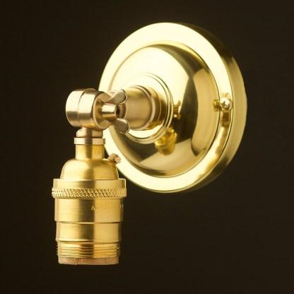 New brass Wingnut Wall mount E26 socket