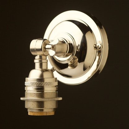 Nickel Wingnut Wall mount E26 socket