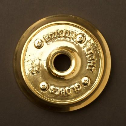 Polished Cast brass flange plate