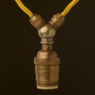 Antique brass E26 Festoon Socket