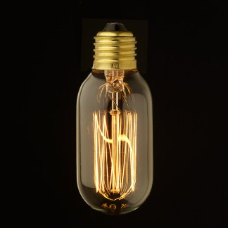 Vintage Edison Squirrel Cage fat tube filament bulb