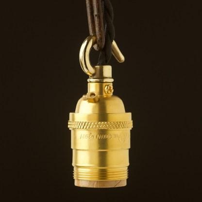 New Brass E26 Chain Hook Pendant Socket