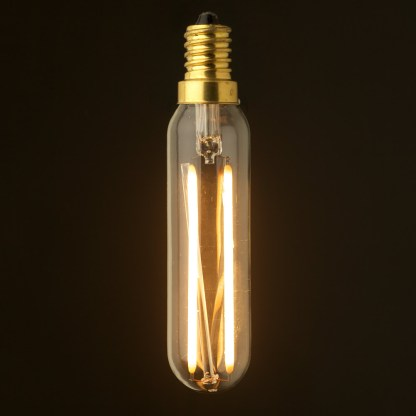 3 Watt LED E12 clear tube low voltage bulb