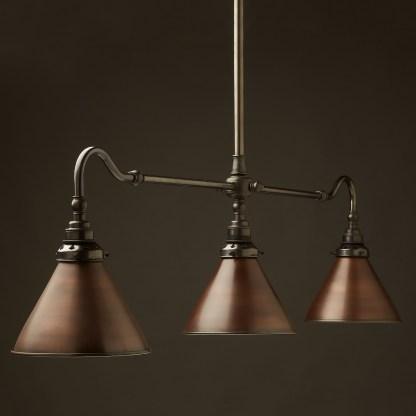 Brass single drop Billiard Table Light bronze cone