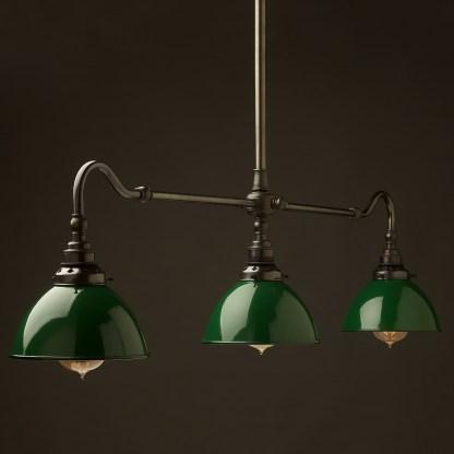 Bronze single drop Billiard Table Light green dome