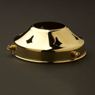 Polished brass 3 1/4 Inch shade fitter