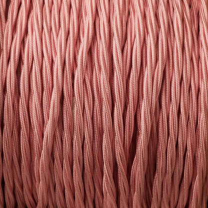 Baby Pink 3 core braided cable