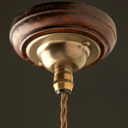 Brass Cord Grip ceiling rose 66mm