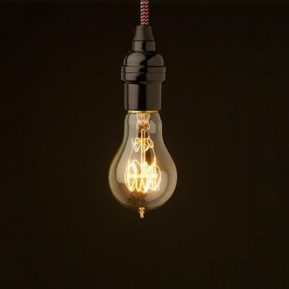 Edison style light bulb Vintage Bakelite fitting GLS vintage standard round