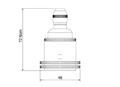 Nickel Pendant Lampholder Edison E27 smooth fitting