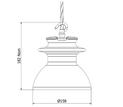 Russian Insulator CD 638 240V E27 Pendant Light