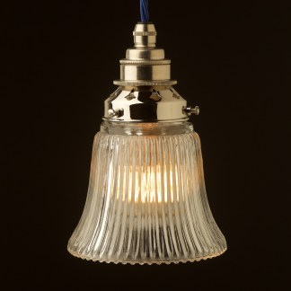 Holophane Bell Glass Light Shade Pendant