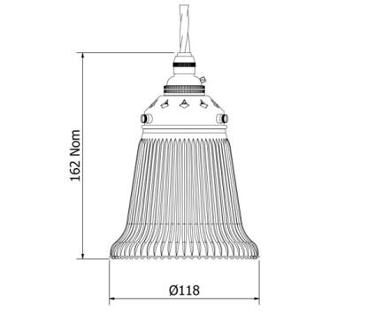 Holophane Bell Glass Light Shade Pendant