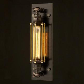 Bronze Medium Bulb Cage Wall Mount Lamp E27