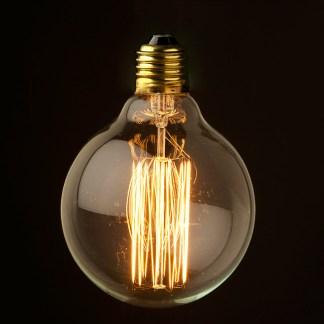 Vintage Edison 95mm Squirrelcage filament bulb E27