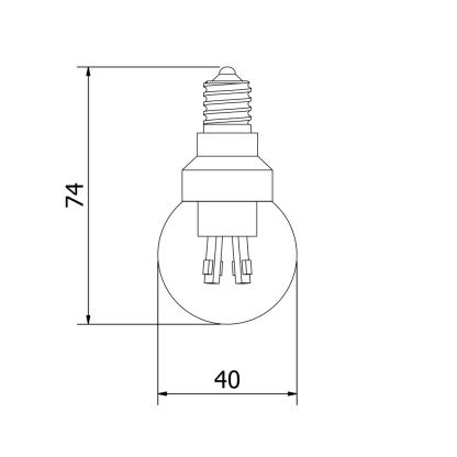3 Watt Dimmable LED E14 Fancy Round bulb