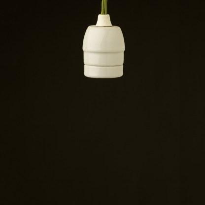 Edison style light bulb E27 White Porcelain fitting