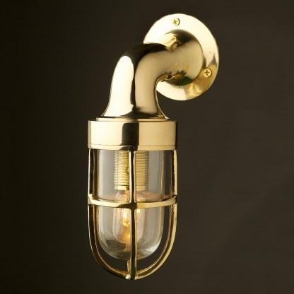 Small Vintage Ship Brass Wall Light
