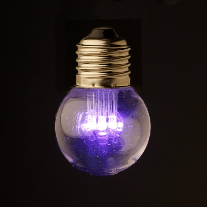 24V Fancy round .5W LED Cool clear Festoon bulb